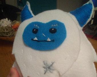 Frosty, handmade yeti, Werewolf, collectible doll