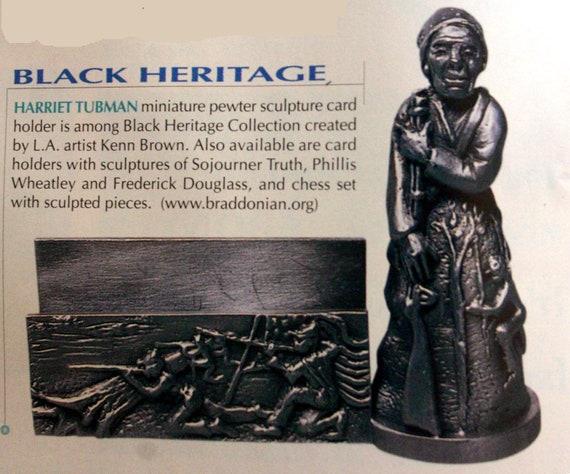 Harriet Tubman Pewter Business Card Holder
