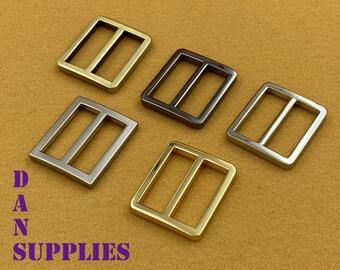 20mm zinc alloy silver Strap adjuster bags,34/'/'hardware Metal Purse backpack Buckles Wallet regulator-10pcs