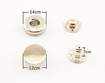 30 sets of 12mm solid brass snap fastener washable press studs Gold Anti brass Nickel