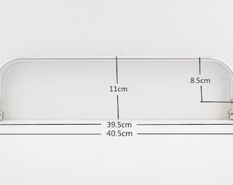 16 inch 40.5cm  Nickel aluminium Tubular Internal Hinge Doctor Bag Frame Purse Frame for Bag purse  hardware Making supplies