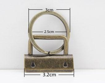 20 sets of Heavt duty 1.25 inch (32mm) Key fob hardware leather webbing strap Key chain hardware  Anti brass Nickel