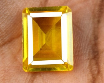 Srilankan 8.35 Ct 100/% Natural Pear Cut Yellow Spinel Loose Gemstone AGI Certified X9713