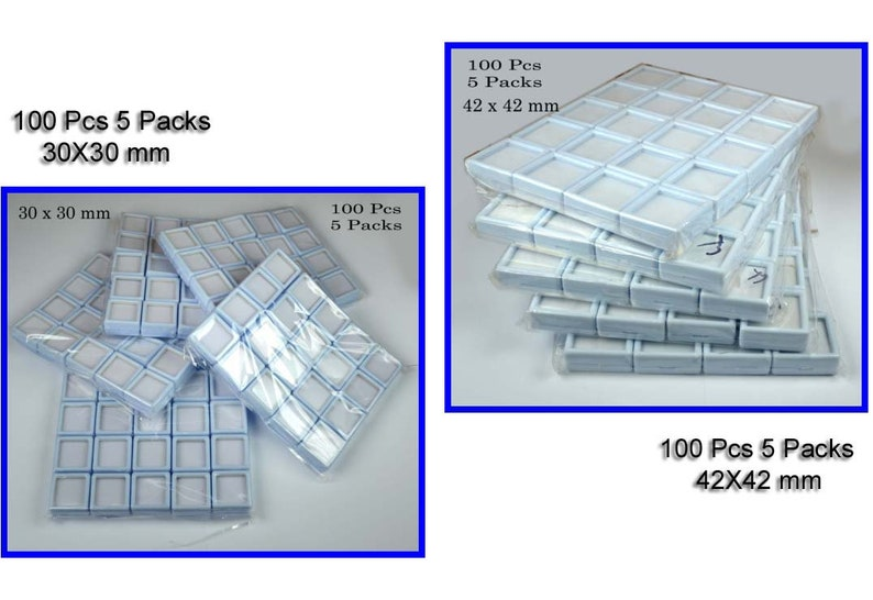 30 /& 42 mm White Plastic 200 Pcs10 Pack GemstoneDiamond Collection Put Box