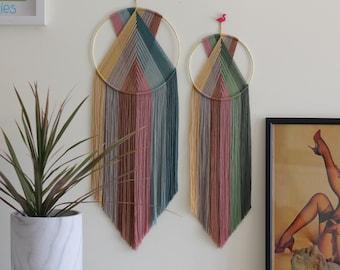 Boho rainbow hanging|bohemian decor|macrame wall hanging|scandi home|plastic free home|macrame|bohemian rainbow hanging