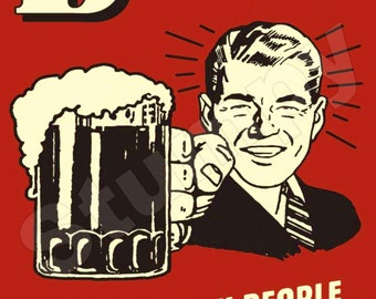 Beer Helping Ugly people have sex Since 1862/Advertising Wall Sign Retro Art