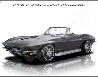 1957 Chevrolet Corvette Poster 18 x 24 w//DIGITAL PHOTOGRAPHY /& FREE SHIPPING!!!