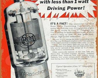"RCA Electron Tubes TV Radio Vintage Rustic Retro Metal Sign 8/"" x 12/"""
