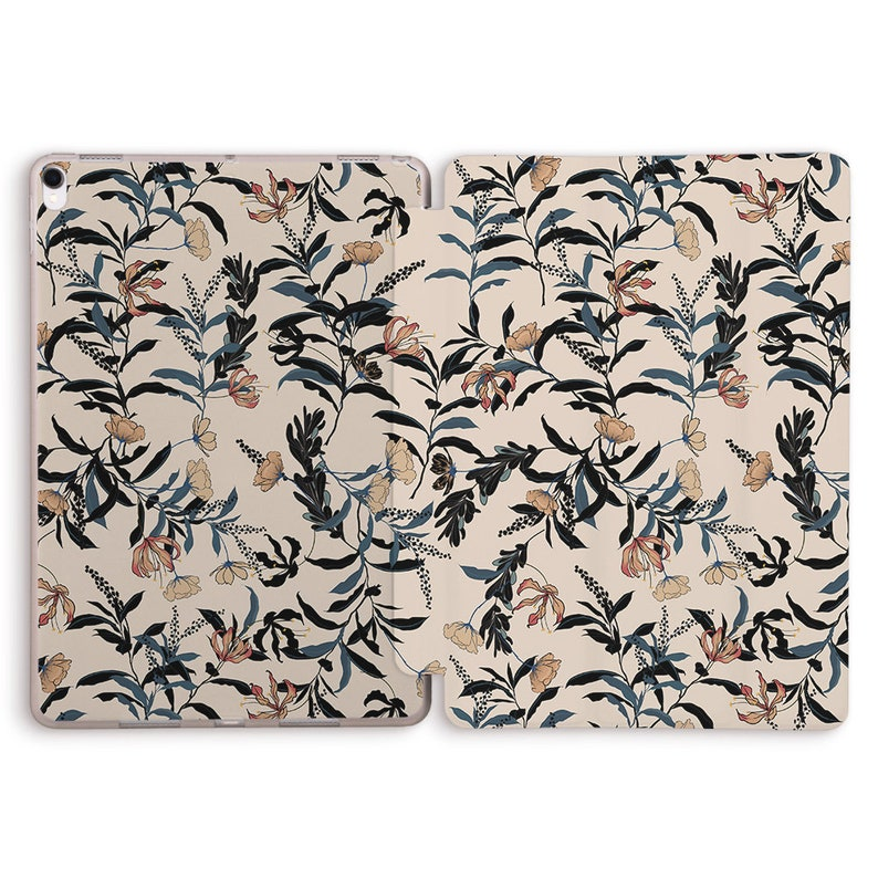 iPad Case cute beige floral aesthetic pastel girl flowers minimalism kawaii Case For iPad 9.7 10.2 Pro 9.7 10.5 11 12.9 Air 2 3 Mini 4 5