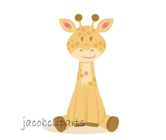 vector graphics. Digital clipart Cute baby giraffe SVG cut file for Cricut and Silhouette