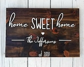 Valentine 39 s Gift, Wood Home Sign, Home Sweet Home Sign, 3d Sign, Realtor Gift, Housewarming Gift, Wood Name Sign, Wedding Gift