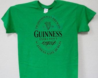 RARE NEW Sherlock Holmes Funny Guiness Parody Black T-Shirt Size S-5XL
