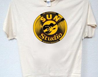 Sun Records Company Sunrise Logo Classic Music T-Shirt Tee