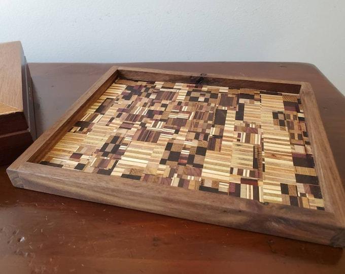 Handmade Mosaic Wood Tray