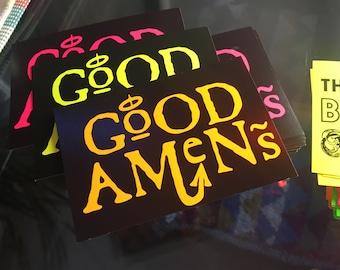 Good Amens neon sticker