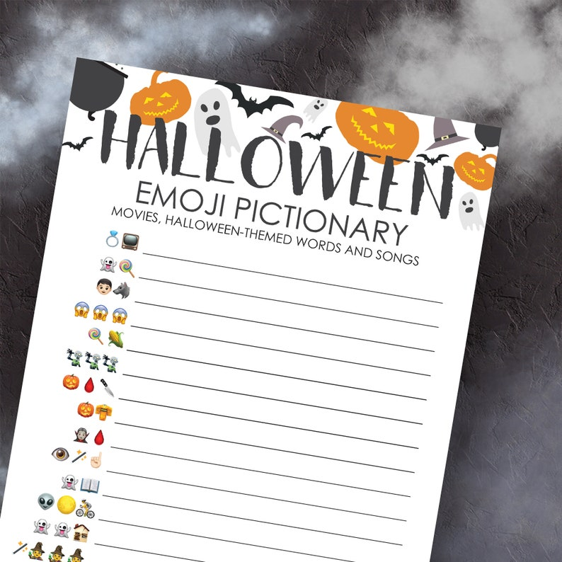Teen Virtual Halloween Halloween Games Adult Halloween Game Halloween Party Games Halloween Games Printable Bundle Instant Download