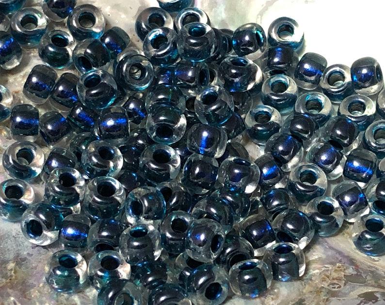 48pcs Size 20 Magic Royal Aqua Lined Crystal Miyuki Beads