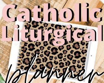 2021 Catholic Liturgical Life Digital Planner Leopard Print Goodnotes Planning Annotate Faith Religion Bible Verses