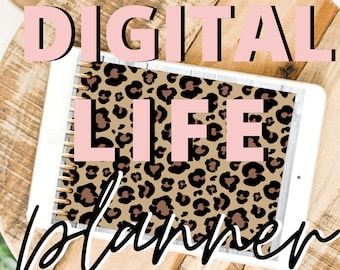 2021 Digital Life Planner Leopard Print Goodnotes Planning Annotate Journaling Notebook