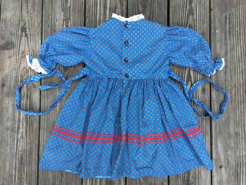 Vintage 1970s Laura Ingalls Wilder Gunne Sax Style Pioneer Dress Little House On The Prairie Calico Dress Toddler Prairie Dress