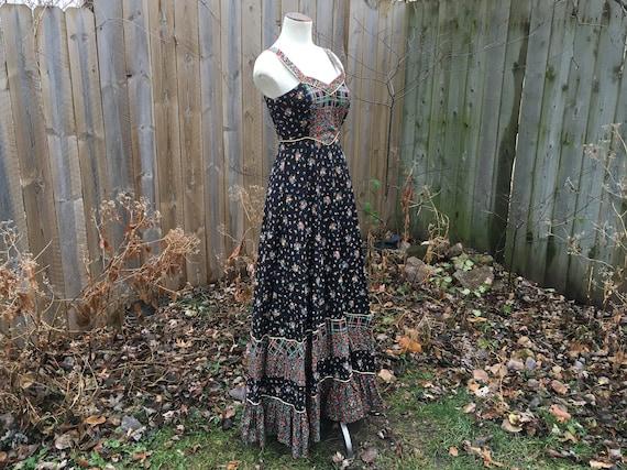 Gunne Sax Dream Dress! Black 1970s Jessica Mcclint