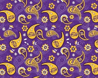 Louisiana State University Tigers LSU Mascot Fabric 100/% Cotton 44 inches wide NCAA Fabric 1164