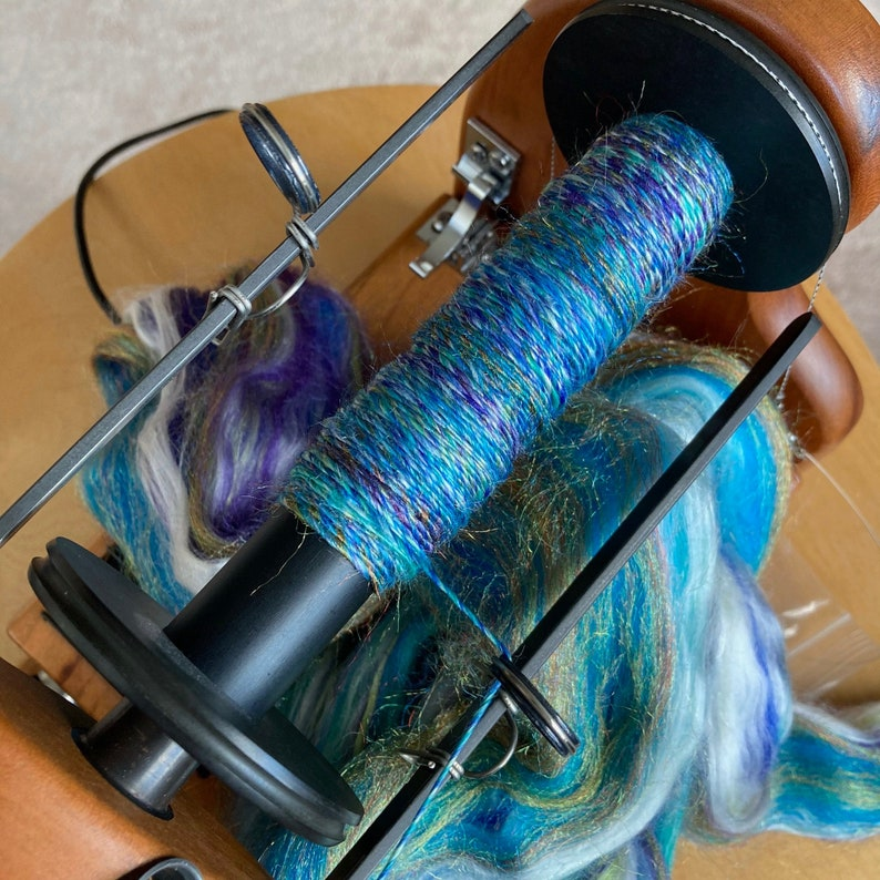 Under the Sea 245 yards sport weight handspun yarn.