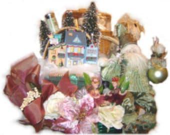 Royal Victorian Christmas gift basket