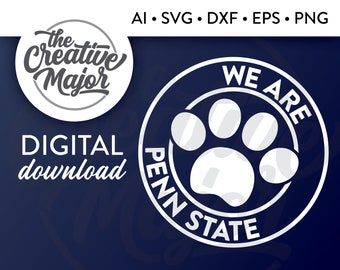 Penn State Svg Etsy 173 transparent png illustrations and cipart matching paw print. penn state svg etsy