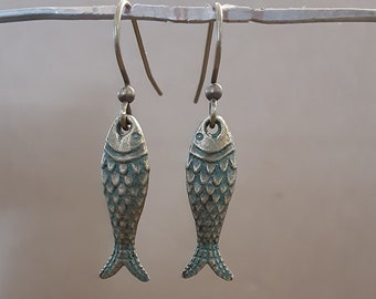 Bronze Fish Earring