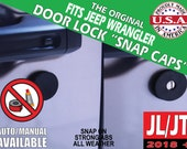 """Fits Jeep Wrangler JL/Gladiator JT Door Lock """"Snap Caps"""""""