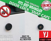 """Fits Jeep Wrangler YJ Door Lock """"Snap Caps"""""""