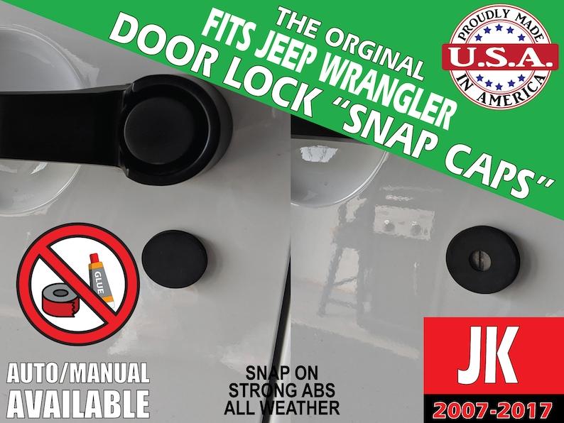 Fits Jeep Wrangler JK Door Lock Snap Caps image 0