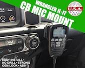 Fits Jeep Wrangler JL/JT  CB Radio Dash Mount - No Drill