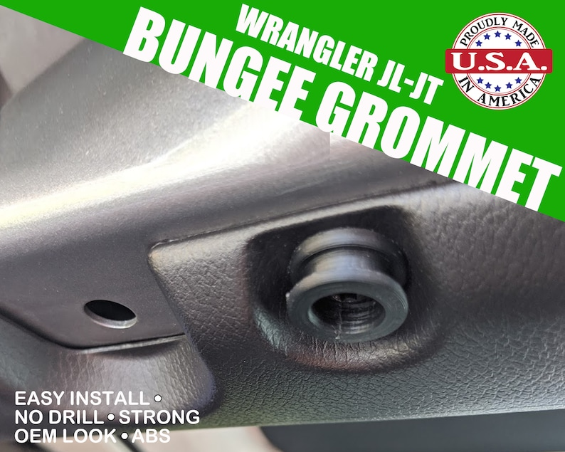 Fits Jeep Wranger JL/JT  Bungee Grommet/Hook 4pcs image 0