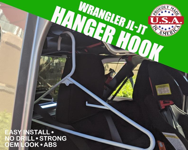 Fits Jeep Wranger JL/JK/JT Clothes Hook 2pcs No drilling image 0