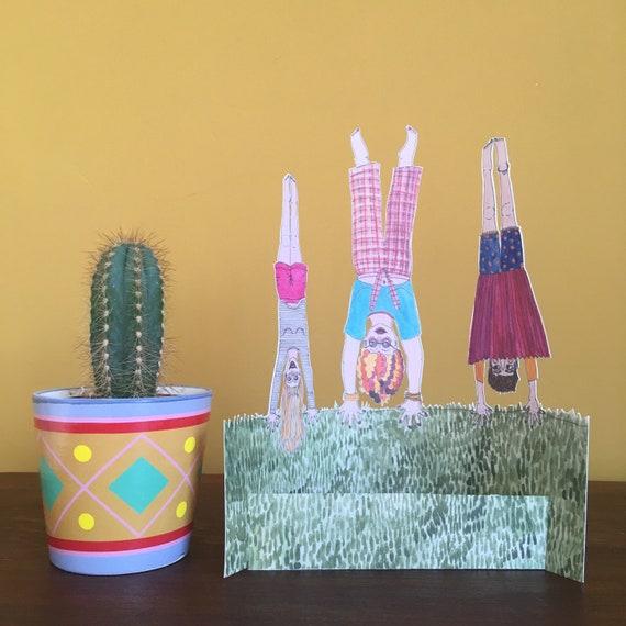 Pop up illustration, Handstand, by Made by Nomela