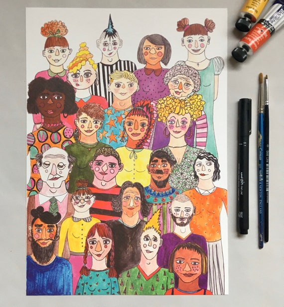 A4 Colour Print, Everyone is Beautiful, by Made by Nomela