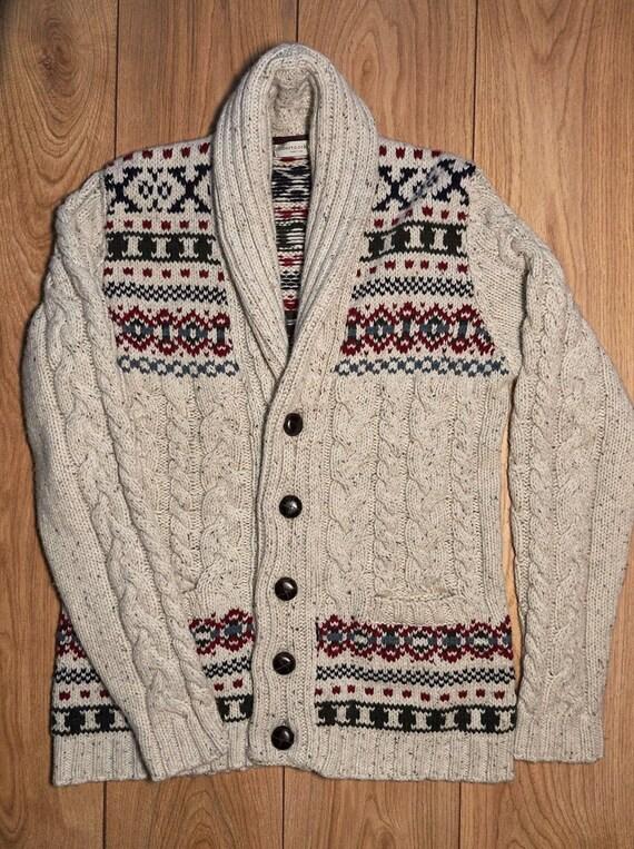Roberto Collina men's fisherman wool sweater with