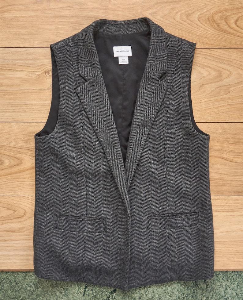 Club Monaco Wool Gray Women/'s Vest Size M