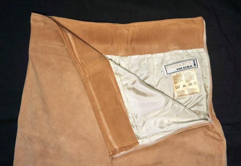 Size S Beige Vintage Leonardo for Scala Fine Suede Leather Women/'s pants