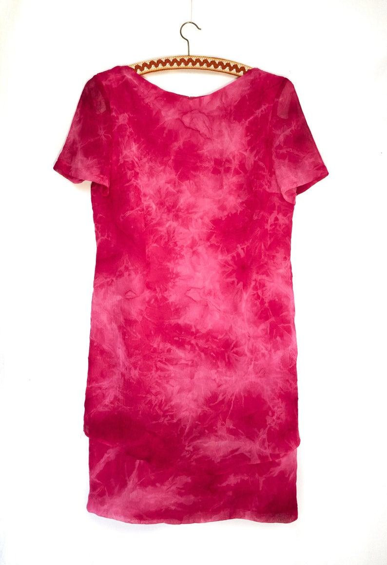 Made in France Size M Christine Laure Paris Pink Short Sleeve Dress