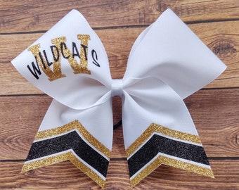 High school cheer bow Cheer Bows Custom High School Cheer Bow