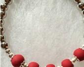 homemade bead bracelet