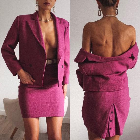 Vintage Wool Skirt Suit Set, Vintage Ladies' Suit,