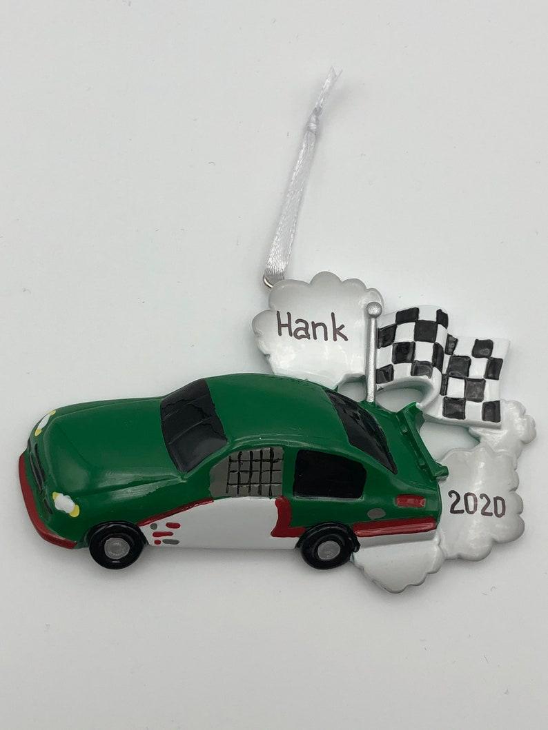 Race Car Christmas Ornament Race Car Christmas Ornament Race Car Personalized Ornament Race Car Hand Personalized Christmas Ornament
