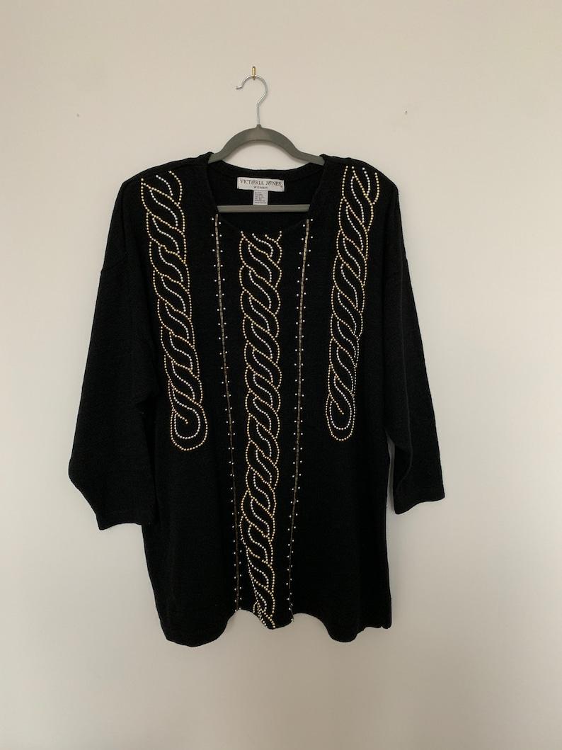 Embellished Tunic Sweater