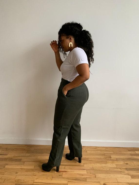 Green Wool Pants - image 2