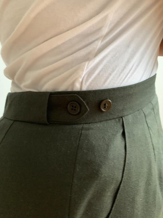 Green Wool Pants - image 4