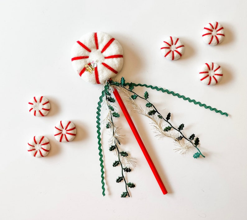 Pre Sale For  Peppermint Holly Wands image 1
